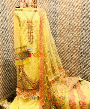 FEPIC C 1029 B YELLOW COLOR WHOLESALE SUITS