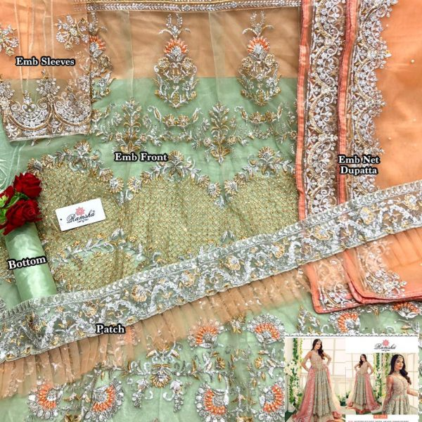 RAMSHA R 264 PAKISTANI SUITS FOR ONLINE RESELLERS