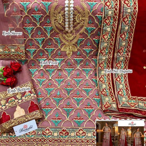 RAMSHA 255 PAKISTANI SUITS BEST RATE SURAT