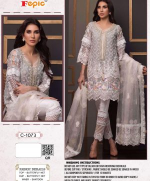 FEPIC C 1073 PAKISTANI SUITS IN SINGLE PIECE WHOLESALE