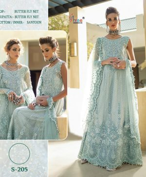 SHREE FABS S 205 PAKISTANI SUITS ONLINE SINGLE