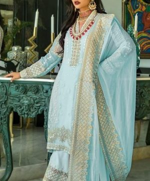 FEPIC C 1080 C SKY BLUE PAKISTANI SUITS WHOLESALER