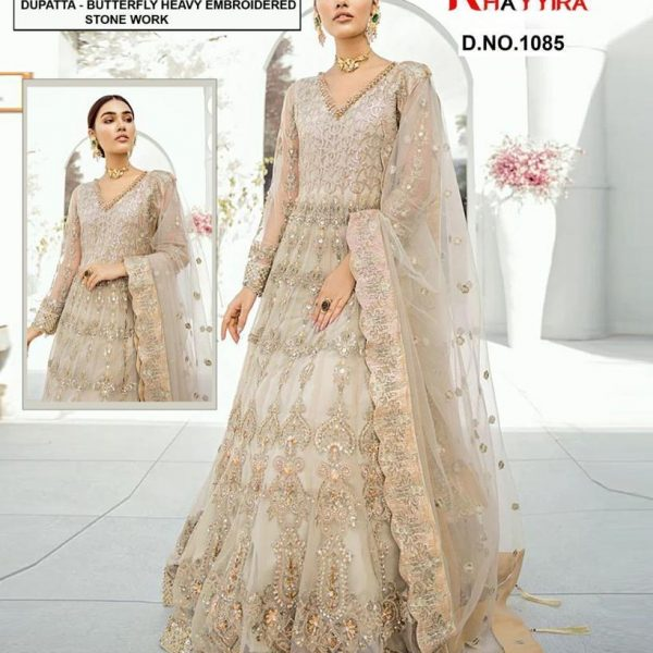 KHAYYIRA 1085 SALWAR KAMEEZ WITH STONE WORK