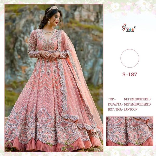 SHREE FABS S 187 PINK DESIGNER COLLECTION