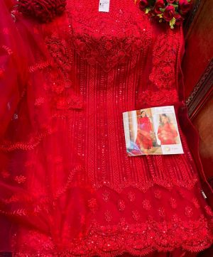 SHREE FABS S 254 RED SALWAR KAMEEZ ONLINE