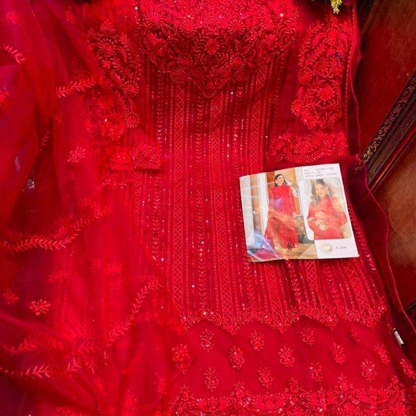 SHREE FABS S 254 RED SALWAR KAMEEZ ONLINE
