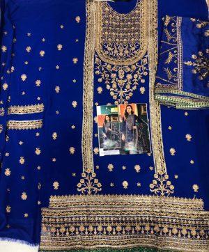 SHENLY FAB 173 BLUE DESIGNER SALWAR KAMEEZ