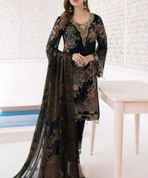 RINAZ FASHION MINHAL 4803 BLACK SALWAR KAMEEZ