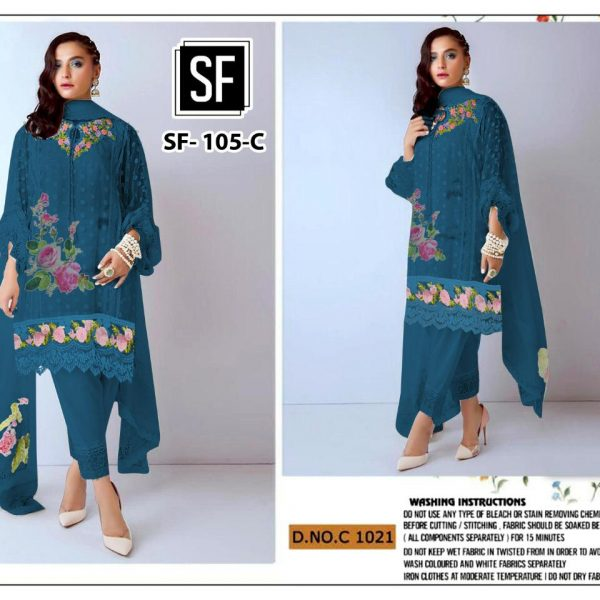 SF 105 COLORS PEHNAVA SALWAR KAMEEZ WHOLESALE (5)
