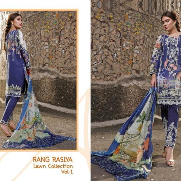 SHREE FABS RANG RASIYA VOL 1 WHOLESALE SINGLES (1)