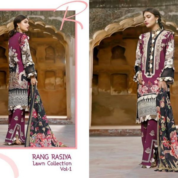 SHREE FABS RANG RASIYA VOL 1 WHOLESALE SINGLES (4)
