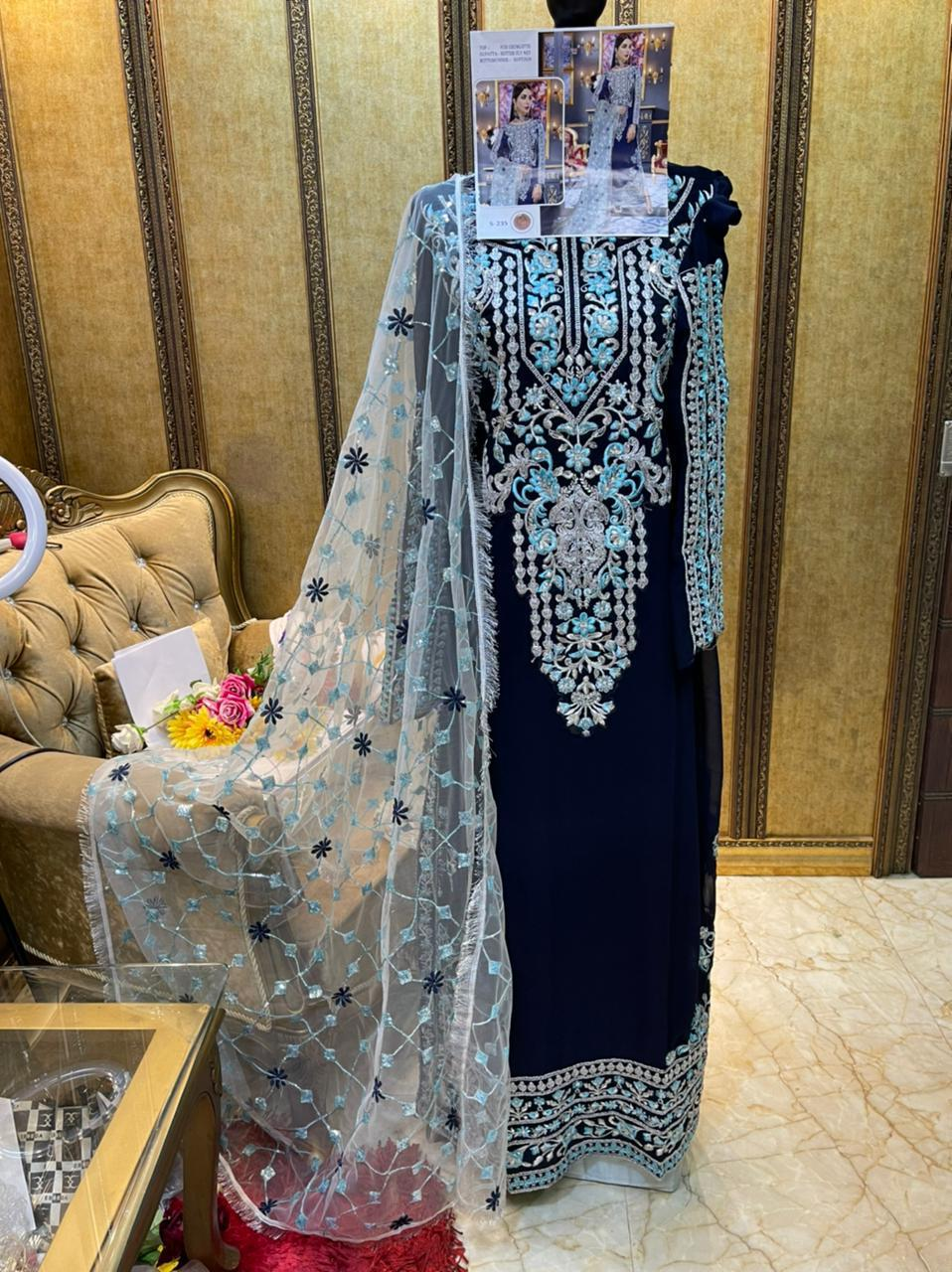 SHREE FABS S 235 GEORGETTE SUITS ONLINE (3)