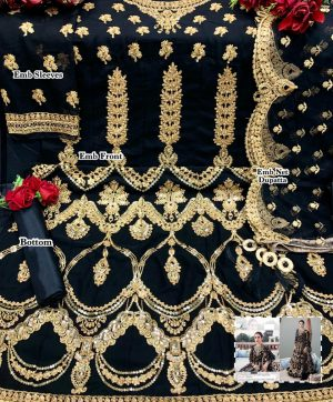 JUVI FASHION JF 259 BLACK SALWAR KAMEEZ ONLINE