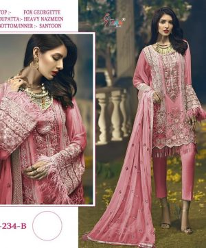 SHREE FABS S 234 B PINK SUITS ONLINE WHOLESALE