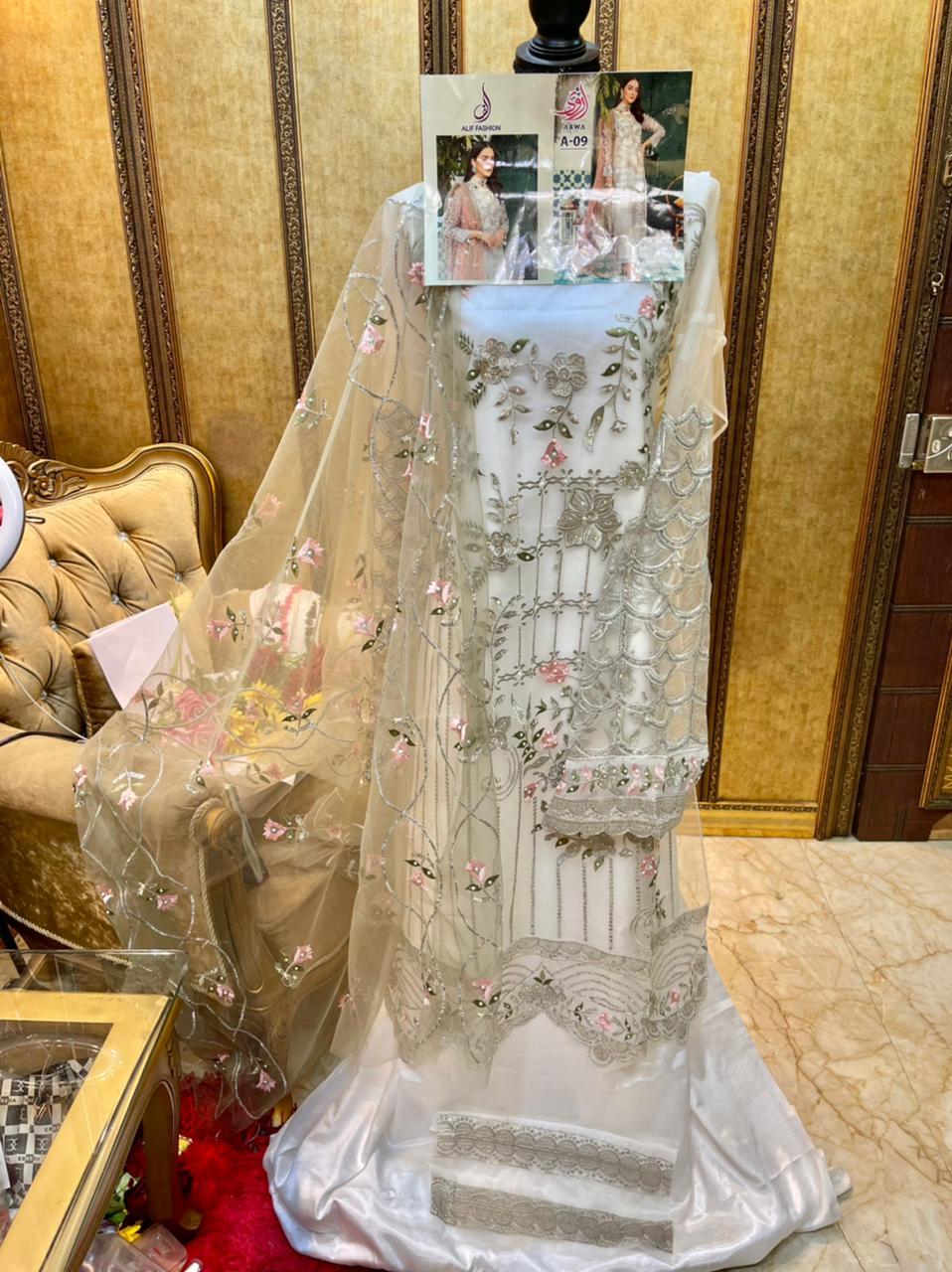 ALIF FASHION ARWA A 09 PAKISTANI SUITS