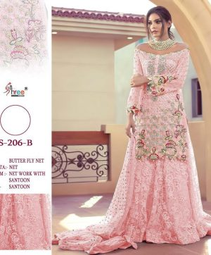 SHREE FABS 206 B PINK NEW COLOR WHOLESALE