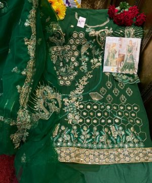 SHREE FABS S 214 GREEN IN SINGLE PIECE WHOLESALE
