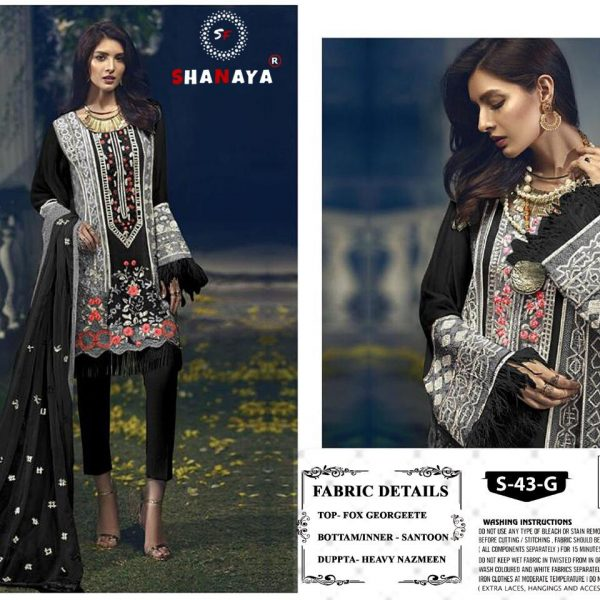 SHANAYA S 43 G BLACK COLOR WHOLESALE SUITS