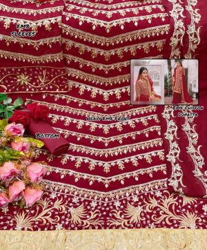 RINAZ FASHION RAMJAN 1194 A RED WHOLESALE SUITS