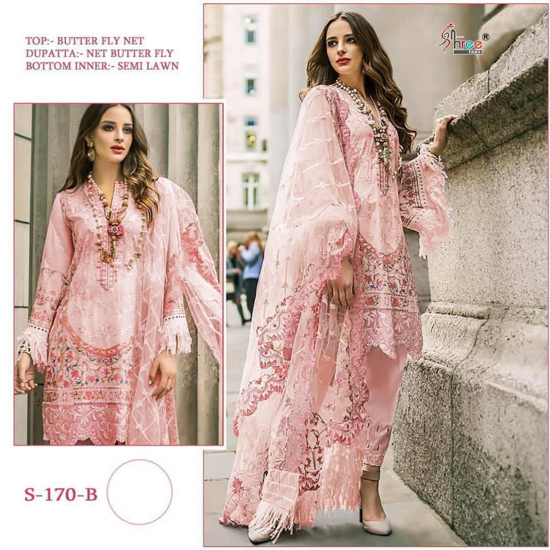 SHREE FABS S 170 B PAKISTANI SUITS WHOLESALER