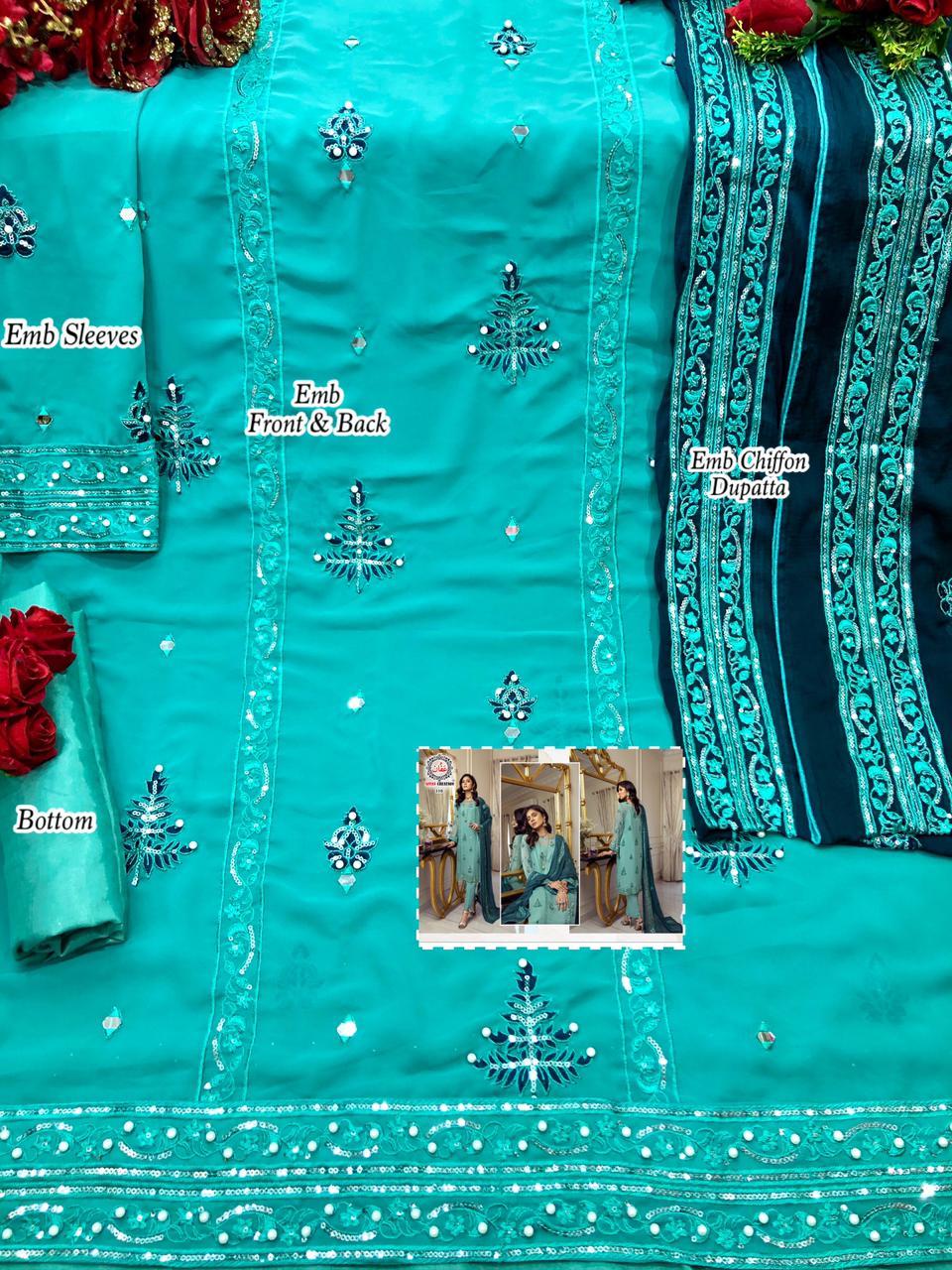 AFFAN CREATION 110 SALWAR KAMEEZ IN SINGLES