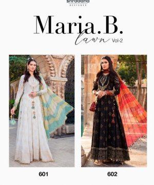 SHRADDHA DESIGNER MARIA B LAWN VOL 2 SINGLES