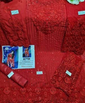 SS 02 MBROIDERED RED SALWAR KAMEEZ ONLINE