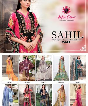 NAFISA SAHIL VOL 5 WHOLESALE BUNDEL OF 10 PCS