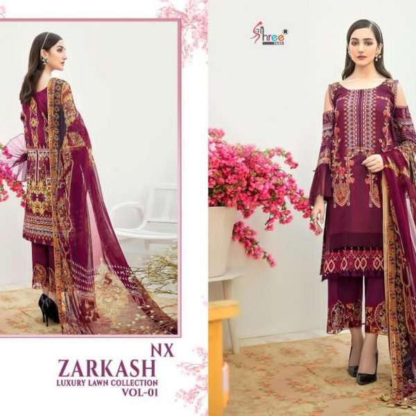 SHREE FABS ZARKASH 1560 COTTON SALWAR KAMEEZ