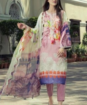 SHREE FABS AL ZOHAIB LAWN IN SINGLE PIECE