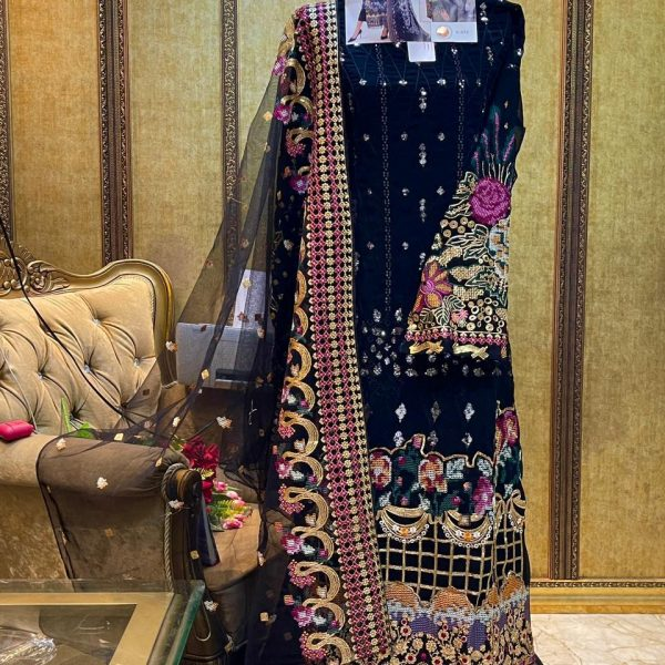 SHREE FABS S 272 BLACK SALWAR KAMEEZ ONLINE