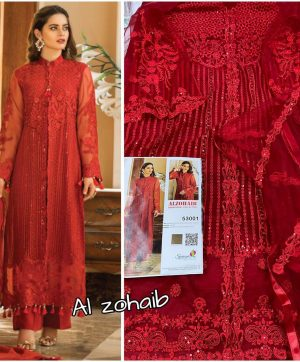 SANIYA TRENDZ 53001 AL ZOHAIB RED WHOLESALE