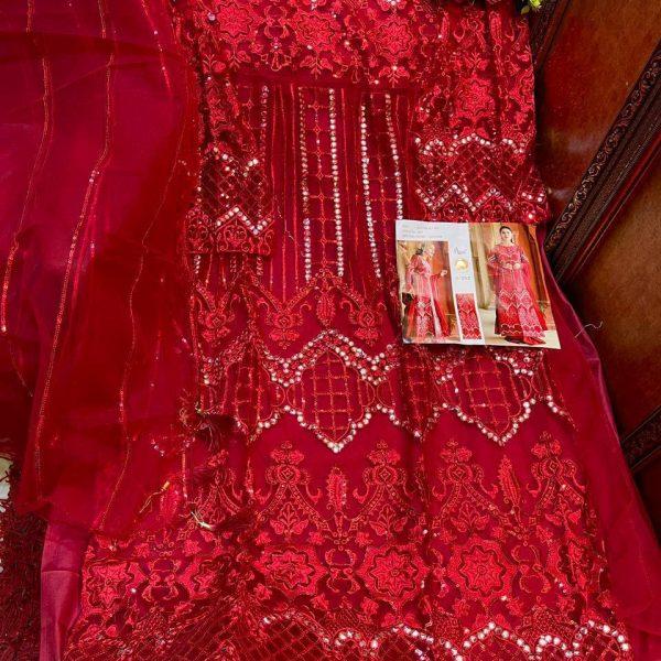 SHREE FABS S 252 RED SALWAR KAMEEZ ONLINE