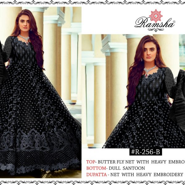 RAMSHA R 256 B BLACK SALWAR KAMEEZ IN WHOLESALE