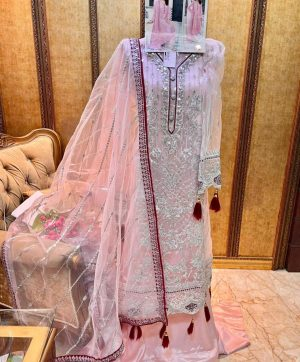 SHREE FABS S 157 C PINK WHOLESALE PAKISTANI SUITS