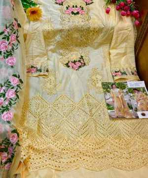 SHREE FABS S 281 YELLOW COTTON SALWAR KAMEEZ