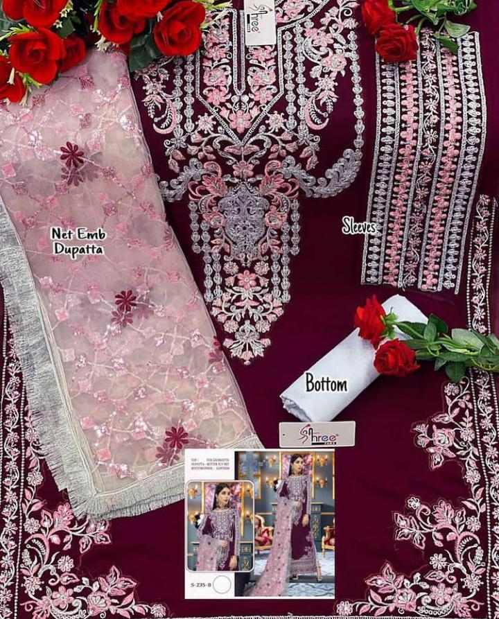 SHREE FABS S 235 B GEORGETTE SUITS ONLINE