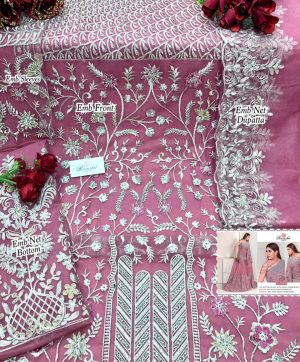RAMSHA R 279 D PINK  PAKISTANI SUITS WHOLESALER