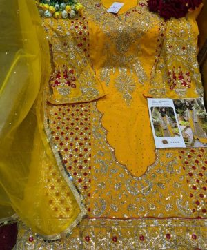 SHREE FABS 246 B YELLOW SALWAR KAMEEZ ONLINE
