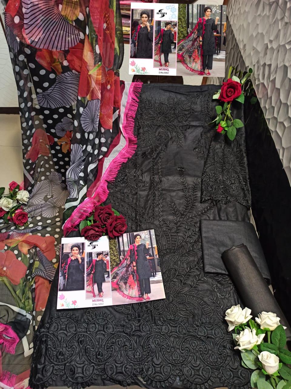 AL SAFA MUSHQ 5002 BLACK COTTON SALWAR KAMEEZ