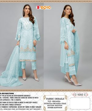 FEPIC C 1050 C BLUE WHOLESALE PAKISTANI SUITS SUPPLIER