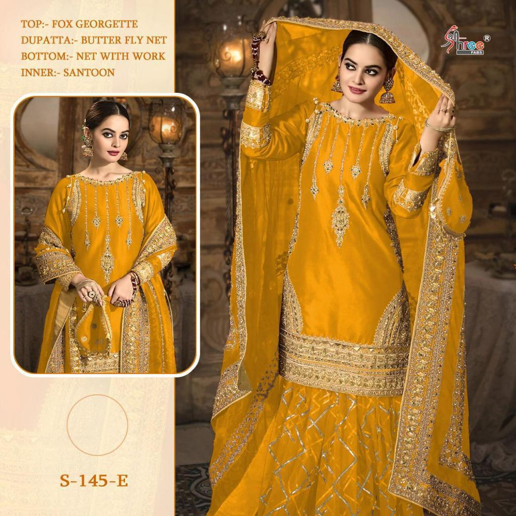 SHREE FABS S 145 E YELLOW WHOLESALE COLLECTION