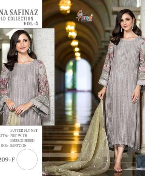 SHREE FABS S 209 F GREY COLOR SALWAR KAMEEZ