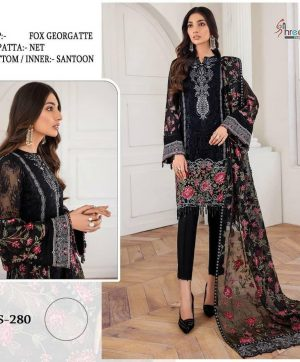 SHREE FABS S 280 BLACK SALWAR KAMEEZ ONLINE