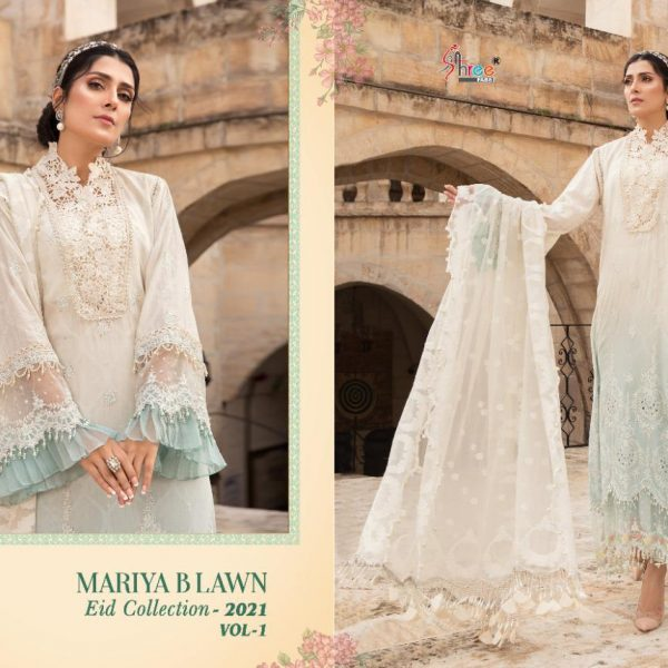 SHREE FABS MARIYA B LAWN EID 2021 VOL 1 SINGLES5
