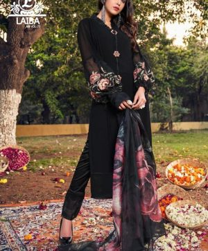 LAIBA AM 73 BLACK READYMADE COLLECTION WHOLESALE
