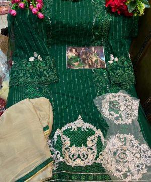 MISHAAL 8010 F GREEN SALWAR KAMEEZ WHOLESALE