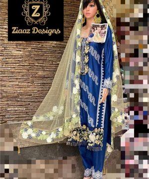 ZIAAZ DESIGNS 7775 A BLUE SALWAR KAMEEZ WHOLESALE