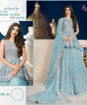 SHREE FABS 229 D BLUE DESIGNER COLLECTION