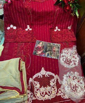 MISHAAL 8010 B RED SALWAR KAMEEZ WHOLESALE